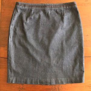 Boden stretch denim modern pencil skirt